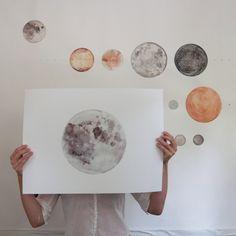 Visual Dose: November 2015 at Moon Print, Art Hoe, Art Plastique, Belle Photo, Art Inspo, Painting & Drawing, Art Drawings, Art Photography, Illustration Art