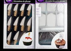 Cupcake toppers - knives for Halloween