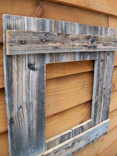 Rustic Barn Wood Frame With Vintage Rustic Hinges Rustic Furniture