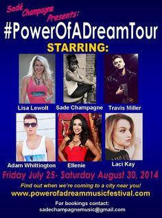 Powerofadreamtour powerofadreammusicfestival starts this July in southern Ca. Adam Whittington Music