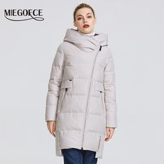Miegofce 2019 Winter Collection Womens Warm Jacket Made With Real Coats For Women, Jackets For Women, Sweaters For Women, Cold Shoulder Sweater, Womens Clothing Stores, Winter Dresses, Jacket Style, Winter Collection, Winter Jackets
