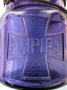 PURPLE RARE ANTIQUE EMPIRE MASON FRUIT JAR! A MUST SEE!!