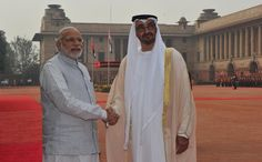 The Crown Prince of Abu Dhabi, Mohammed Bin Zayed Al Nahyan, was on Wednesday ceremonially welcomed by President Pranab Mukherjee. #AbuDhabiPrince #PMModi #RepublicDay #PranabMukharjee