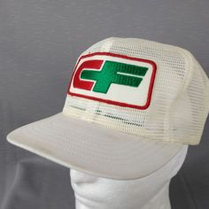 White Full Mesh Snapback Consolidated Freight Trucker Hat 4.5 Patch USA  Tonkin  3ce9718c60af