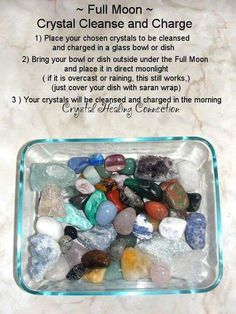 Full moon crystal cleanse