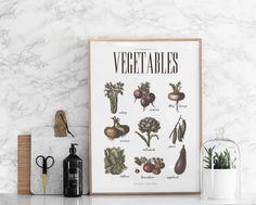 Vegetables nel gruppo Poster / Poster per la cucina presso Desenio AB Kitchen Prints, Kitchen Art, Vegetable Prints, Different Vegetables, Stylish Kitchen, Tomato Plants, Blog Deco, Typography Poster, Vegetables