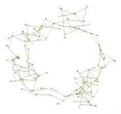 MARTA BOAN-ES jewells, cyclical pattern 14 gold 18 k 155 cm length 2007 http://www.martaboan.com/