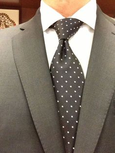 Sam Hober Tie: White Dots on Dark Navy Pin-Dot Silk Tie 1 http://www.samhober.com/pin-dot-silk-ties/