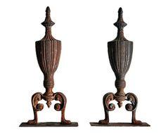 Vintage Iron Sculptural Finials