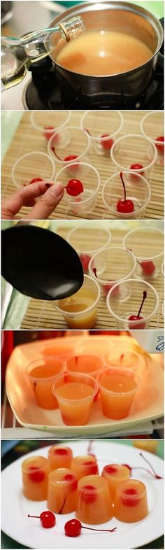 How to Make Pineapple Upside Down Cake Jello Shots for your next adult party!..