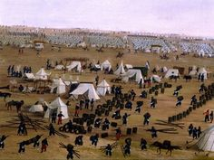 'Argentine Camp During War Against Paraguay -' by Candido Lopez (1840-1902, Argentina)