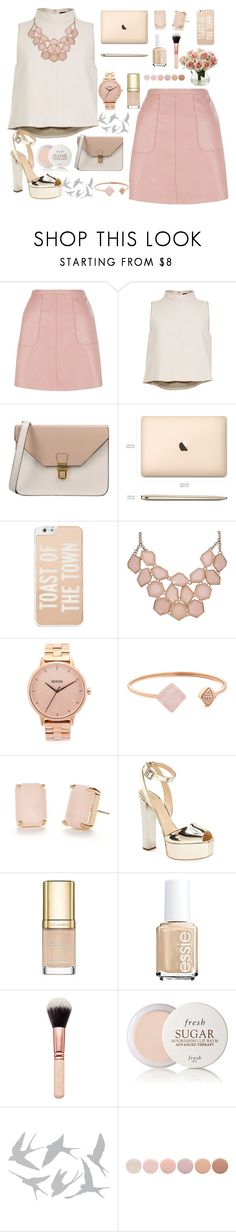 """style"" by lena-volodivchyk ❤ liked on Polyvore featuring TIBI, 8, Kate Spade, Nixon, Michael Kors, Giuseppe Zanotti, Dolce&Gabbana, Essie, Fresh and Universal Lighting and Decor"