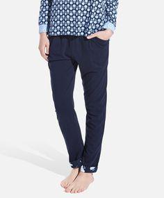 Pants with tiny floral print detail, null£ - null - Find more trends in women fashion at Oysho . Sleepwear & Loungewear, Swimsuits, Bikinis, Pyjamas, Beachwear, Lounge Wear, Sportswear, Maternity, Fall Winter