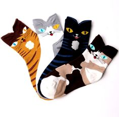 These cats hangin' out on your ankles: | 14 Pairs Of Cat Socks To Kick Off The Mew Year In Style