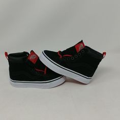VANS SK8 HI MTE BLACK RACING RED HIGH TOP ATHLETIC SHOES KIDS SIZE 10.5 NEW  WOB  fashion  clothing  shoes  accessories  kidsclothingshoesaccs   unisexshoes ... b22c0508a