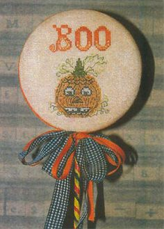 counted cross stitch pattern  Pumpkin Boo Pick by thecottageneedle, $6.50