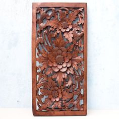 Balinese Traditional Lotus Flower Carved Wood Panel Bali Wall Art Architecturalor Balinese Artisan http://www.amazon.com/dp/B00GRLYQ9C/ref=cm_sw_r_pi_dp_40LAub0XSAS6S