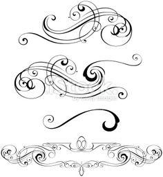 Scroll Designs Royalty Free Stock Vector Art Illustration