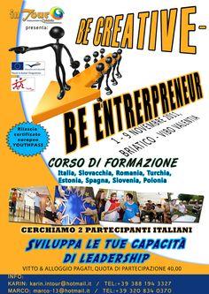 1st-9th Nov 2011 - Briatico (VV, Italy). Be creative Be entrepreneur. Training Course