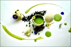 INKrestaurant Chef Martyn Meid Last texture of Pea Michelin Star Food, Modernist Cuisine, Plate Presentation, Chefs, Food Decoration, Molecular Gastronomy, Food Plating, Plating Ideas, Edible Art