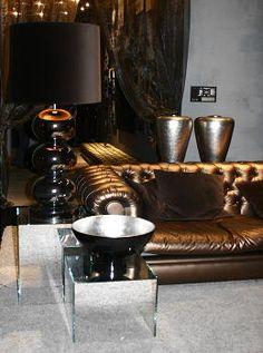Eric Kuster Luxe Meets Klassiek Brons, zilver, goud, bruin kleuren combinatie met glas, hout & natuursteen. #EricKuster