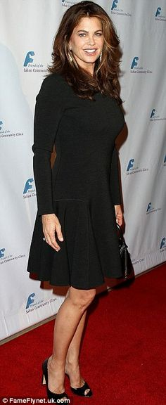 So it will come as not surprise to fans of Sarah Silverman she decided to draw attention to her finest asset in a low cut little black dress at a benefit gala in Los Angeles on Monday. Emmy Rossum, Kathy Ireland, Movie Stars, Casual Dresses, Awards, Hair Makeup, High Neck Dress, Actresses, Models