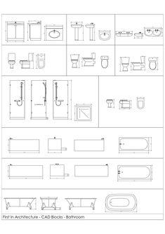 CAD Blocks – Bathroom 01 Free Cad Blocks - from First In Architecture. BathroomsFree Cad Blocks - from First In Architecture. Architecture Symbols, Interior Architecture Drawing, Detail Architecture, Interior Design Sketches, Architecture Plan, Architecture Diagrams, Architecture Portfolio, Floor Plan Symbols, Autocad 3d