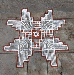 Beautiful Rangoli Designs, Kolam Designs, Diya Rangoli, Padi Kolam, Creative