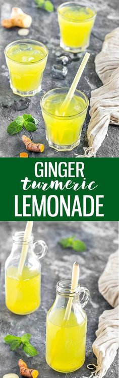 Anti-Inflammatory Ginger Turmeric Lemonade - cooling, invigorating, energizing, and thirst-quenching. The ultimate refreshing summer drink with a delightful, exotic taste.