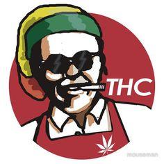 Cool KFC Weed Art