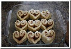 valentine cinnamon rolls