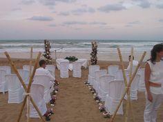 Montaje de una de nuestras bodas en un auténtico oasis en el mediterráneo