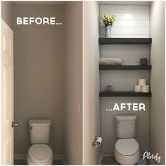 25 Incredible DIY Makeover Ideas and Designs — RenoGuide - Australian Renovation Ideas and Inspiration renovations Toilette Design, Small Toilet Room, Guest Toilet, Toilet Room Decor, Small Toilet Decor, Kids Toilet, Restroom Remodel, Bath Remodel, Shower Remodel