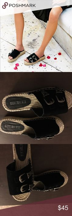 🔥🔥🌟🌟Black Nightcrawler Sandals🔥🔥🌟🌟 Night walker Black El Mono Sandals by Free People it says size 7 on the leather sandal Free People Shoes Slippers