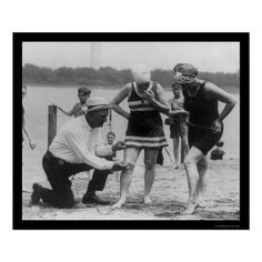 Beach Police in 1922 make sure swimsuit in not more than 6 inches above knee.