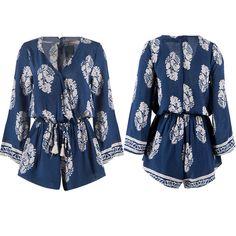 True Fairy Tale Romper in Navy - - Summer fashion 2015. www.psiloveyoumoreboutique.com