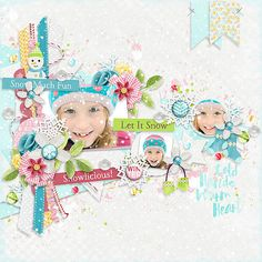 Page made by Conny using Recycle #03   Templates, Snow Snow Snow   Collection by Akizo Designs (Digital Scrapbooking layout)
