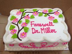 Pretty Farewell Cake