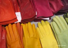 colourful gloves by Liisa Sauso Gloves, Leather, Bags, Accessories, Color, Products, Handbags, Colour, Bag