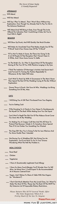 World's most honest wedding invitation