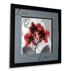 Inspiration Floral X-Ray Love Wall Art - Bed Bath & Beyond