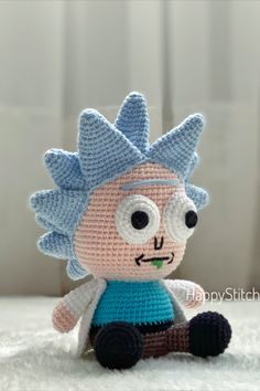 Minion Crochet Patterns, Amigurumi Patterns, Crochet Hook Sizes, Crochet Hooks, Crochet Doll Tutorial, Diy Crochet Projects, Crochet Monsters, Crochet Disney, Cute Crochet