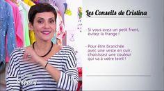 Cristina Cordula nous livre ses astuces pour être branchée avec une veste en cuir. La styliste recommande de choisir une couleur qui flatte le teint. Quand on a un petit front, comme la candidate du jour, elle conseille d'éviter la frange. Retrouvez Les reines du shopping sur M6.