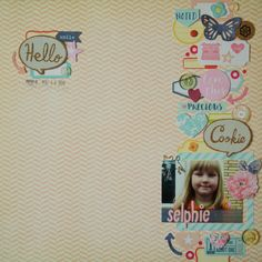 Saras pysselblogg - Sara Kronqvist: Selphie | Traditional scrapbook layout with just paper, embellishments and photo