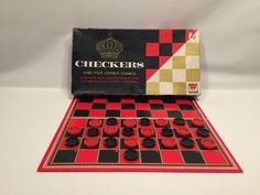 Vintage Checkers and 5 Variants Goban Fox and Geese Give Away Whitman 1949 #4708 #Whitman