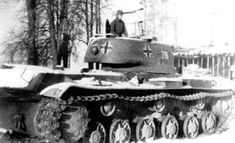 Russian KV-1 heavy tank captured by Germans