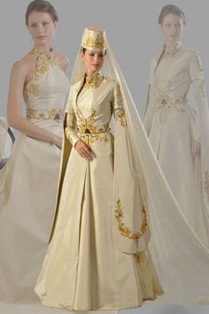Ethnic Wedding Dress of Caucasian fashion
