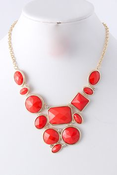 "$26 on the SHOP tab! ""Jenny Necklace - Coral"""