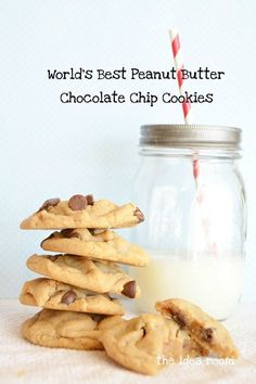 World's Best Peanut Butter Chocolate Chip Cookie Recipe - Tried these and they turned out great! I used 1/2 cup of mini chocolate chips and loved it! -Cassie