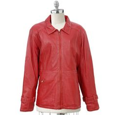 Very affordable red leather jacket